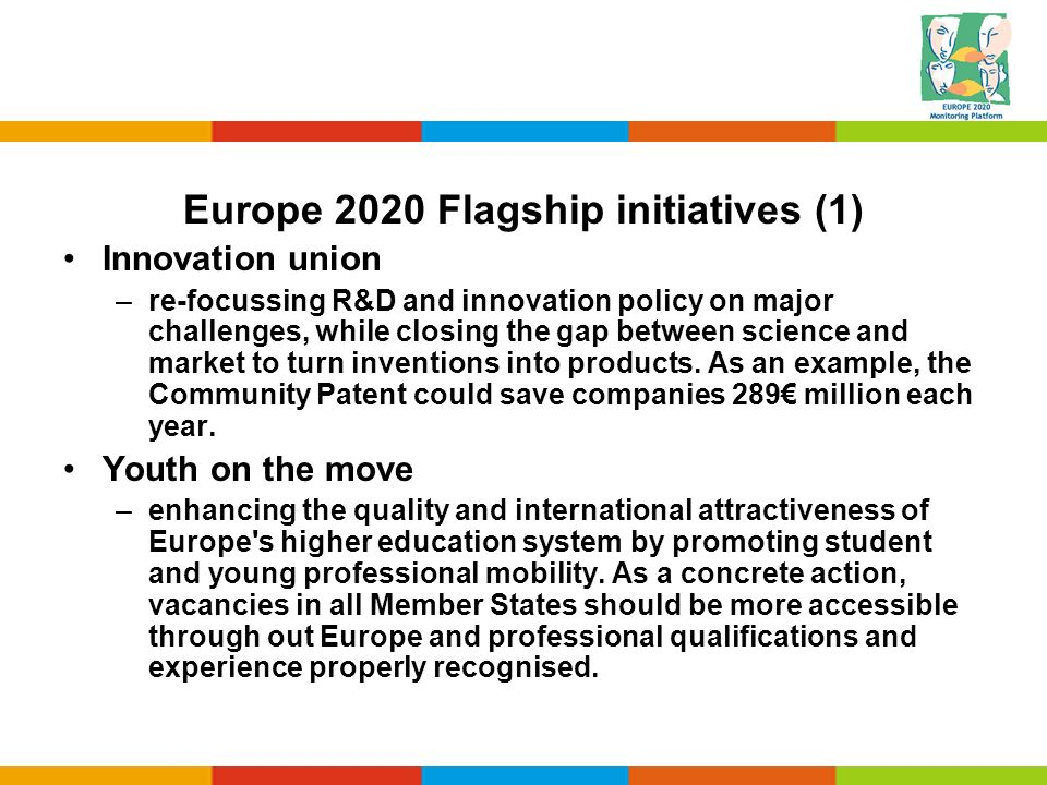 Europe 2020 Flagship initiatives (1)