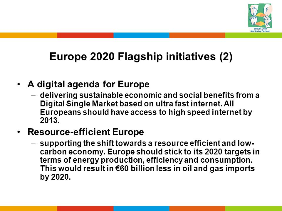 Europe 2020 Flagship initiatives (2)