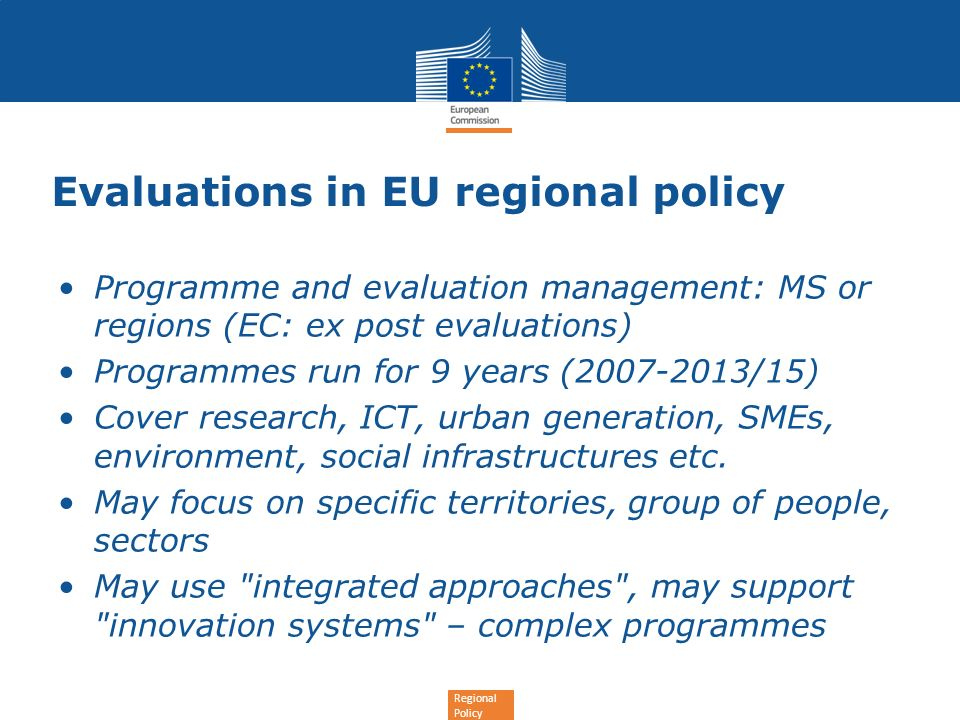 Evaluations in EU regional policy