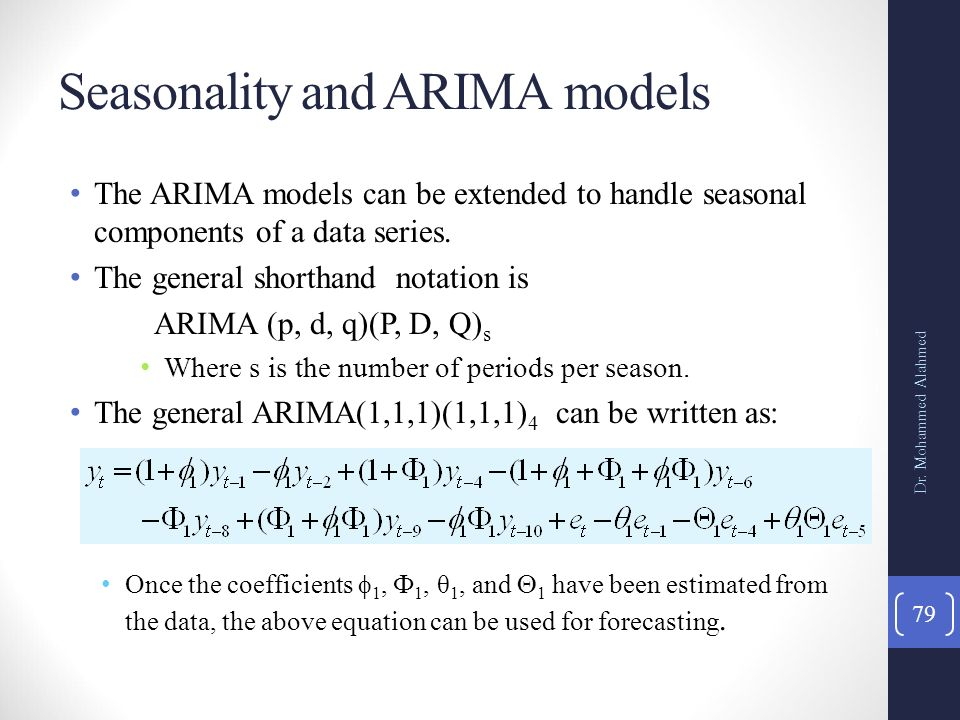 The Box-Jenkins Methodology for ARIMA Models - ppt download