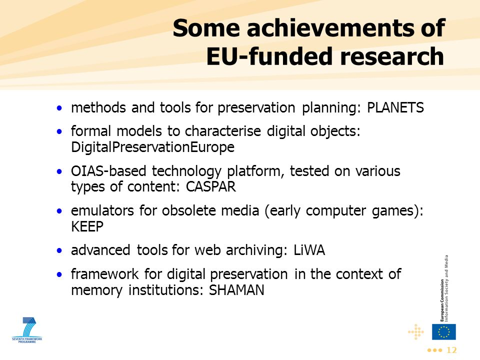 Some achievements of EU-funded research