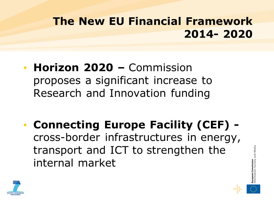 The New EU Financial Framework 2014- 2020