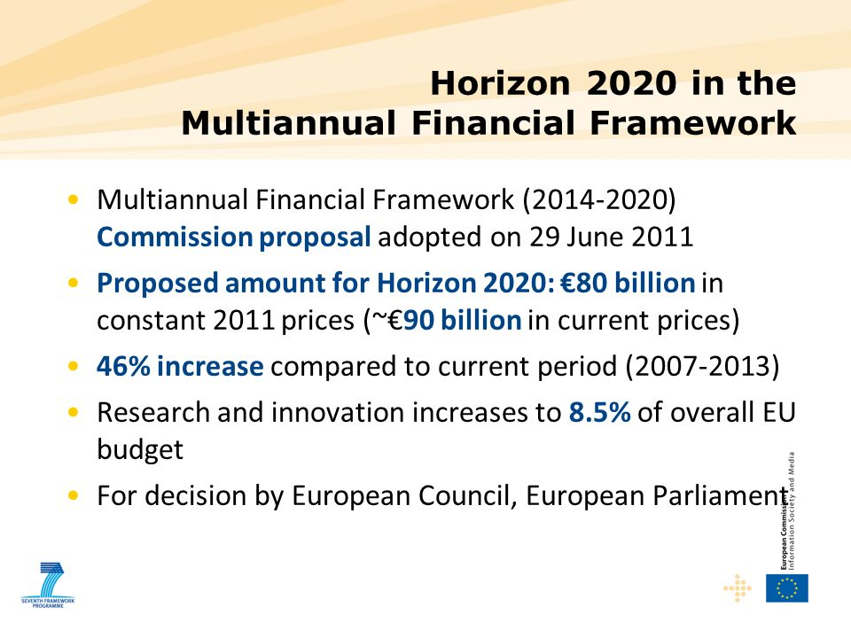 Horizon 2020 in the Multiannual Financial Framework