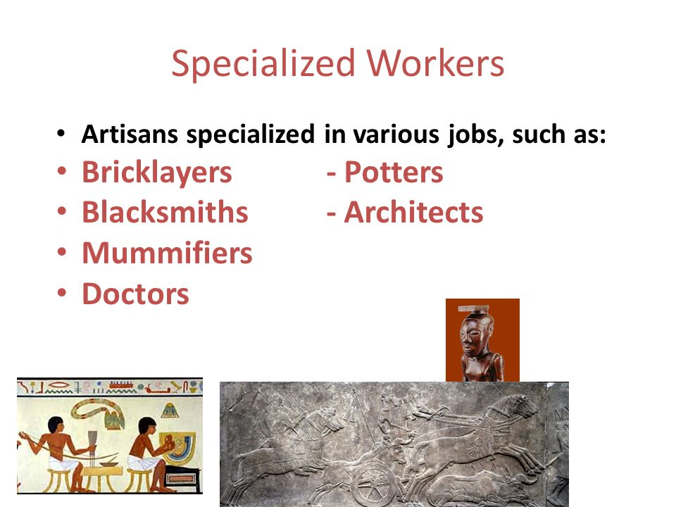 specialized workers in sumer