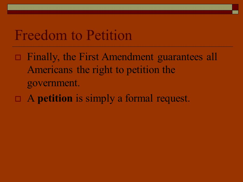 right to petition amendment what are the 5 principles of the constitution ppt 9016