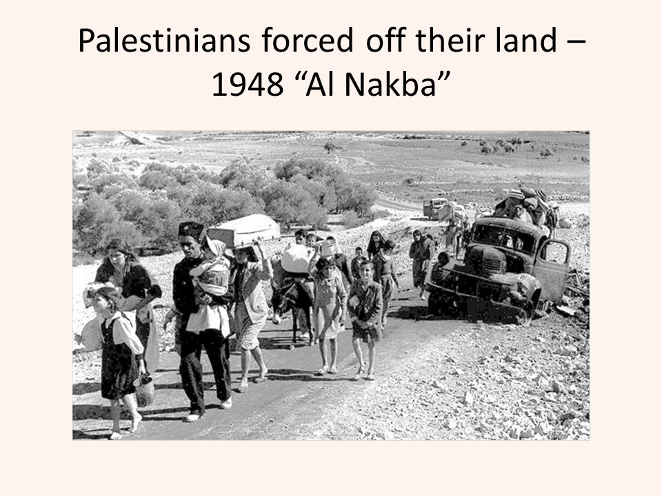 Palestinians forced off their land – 1948 Al Nakba