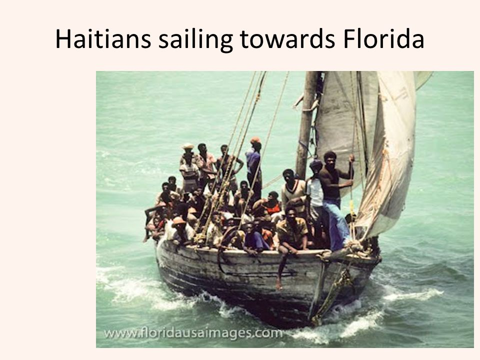 Haitians sailing towards Florida