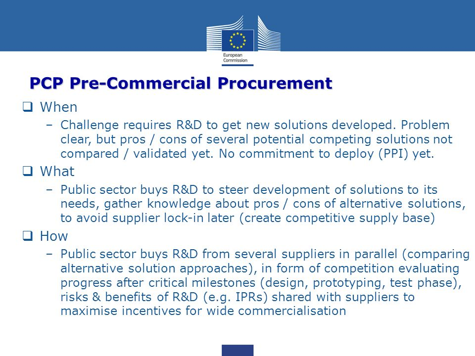 PCP Pre-Commercial Procurement