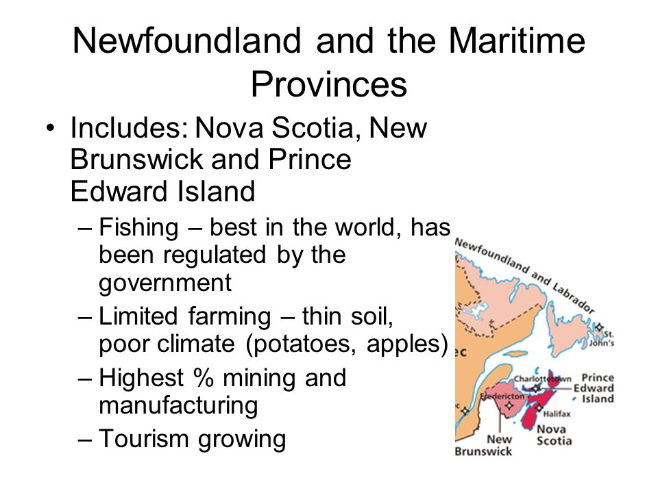 Newfoundland and the Maritime Provinces