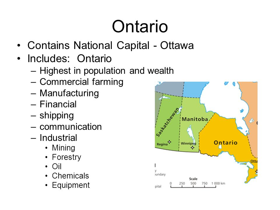 Ontario Contains National Capital - Ottawa Includes: Ontario