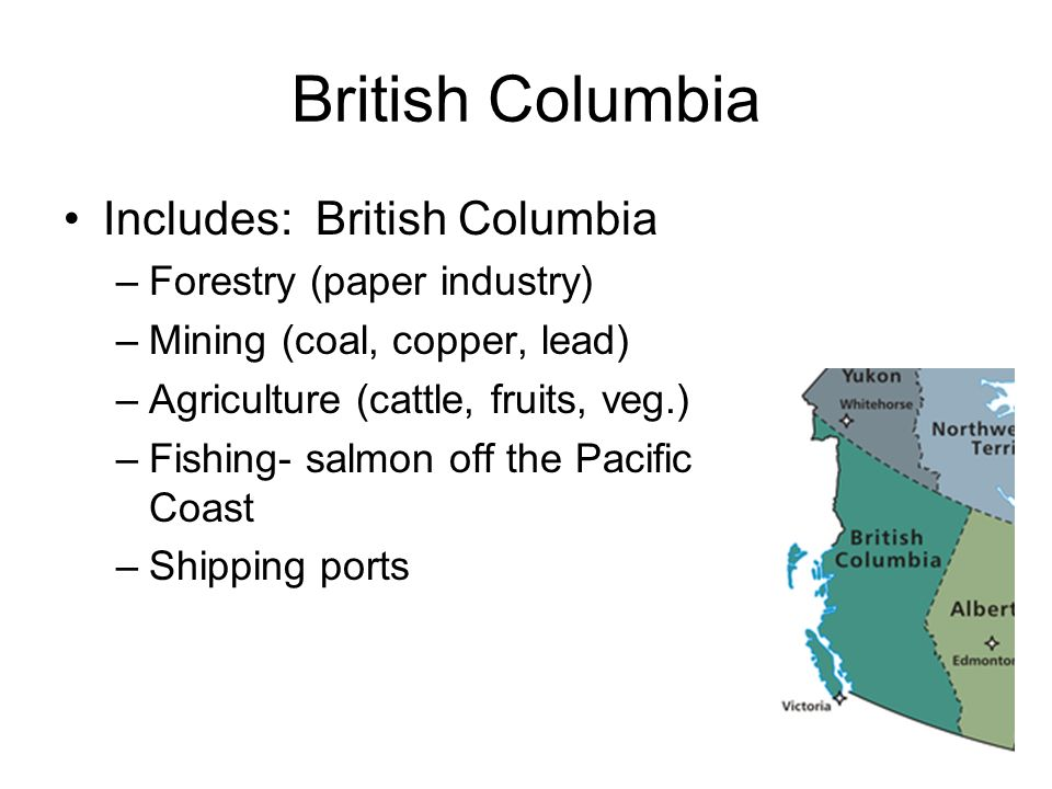 British Columbia Includes: British Columbia Forestry (paper industry)