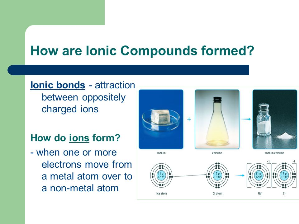 How are Ionic Compounds formed