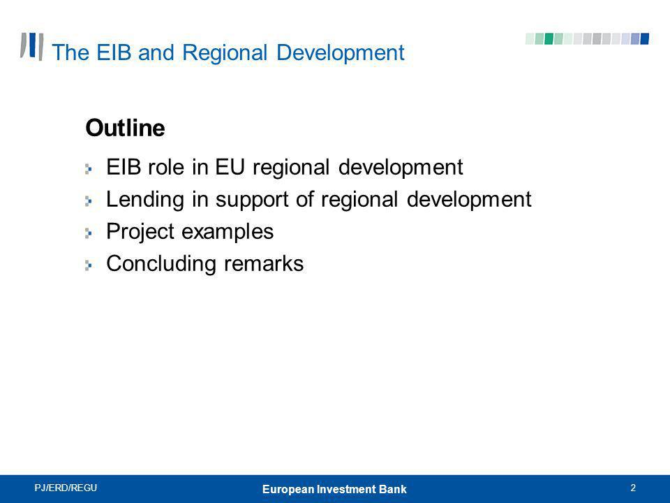 The EIB and Regional Development