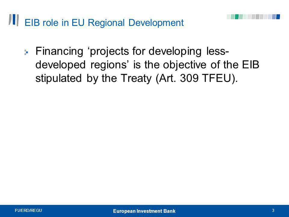 EIB role in EU Regional Development