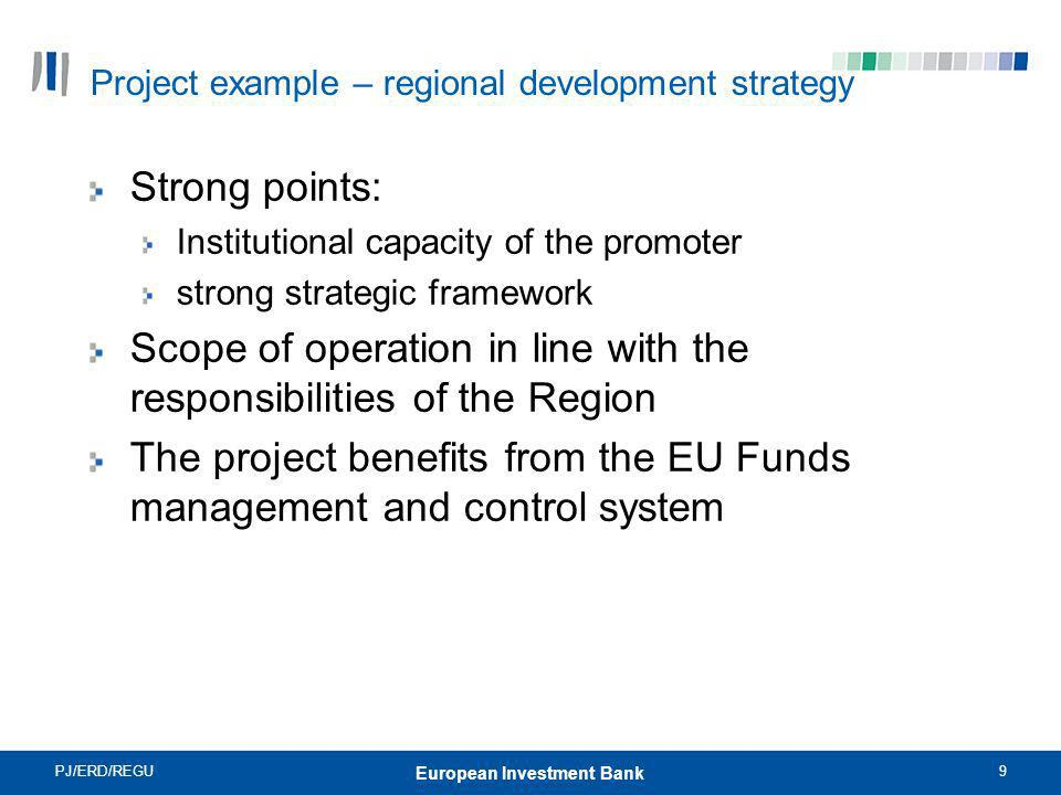 Project example – regional development strategy