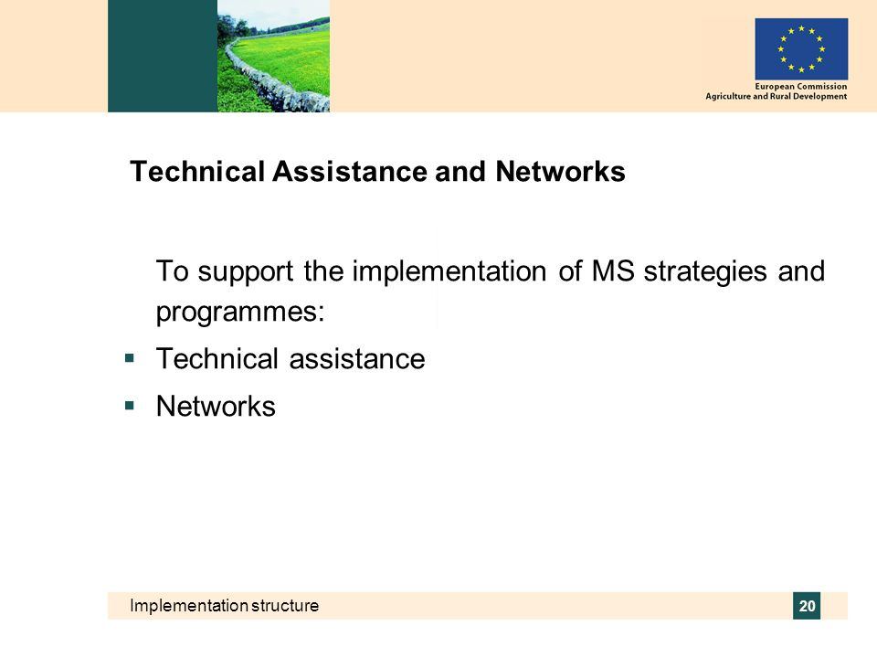 Technical Assistance and Networks