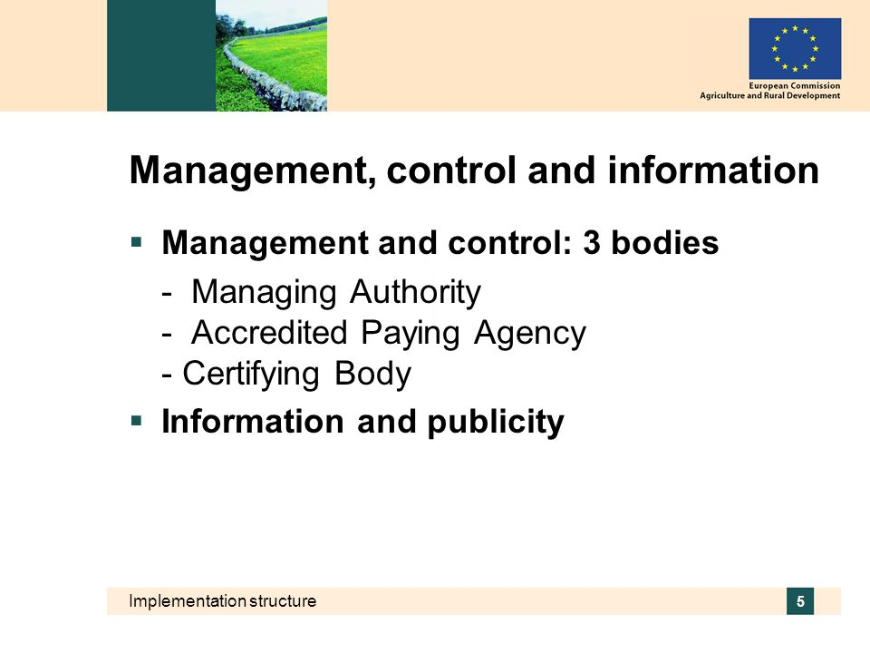 Management, control and information