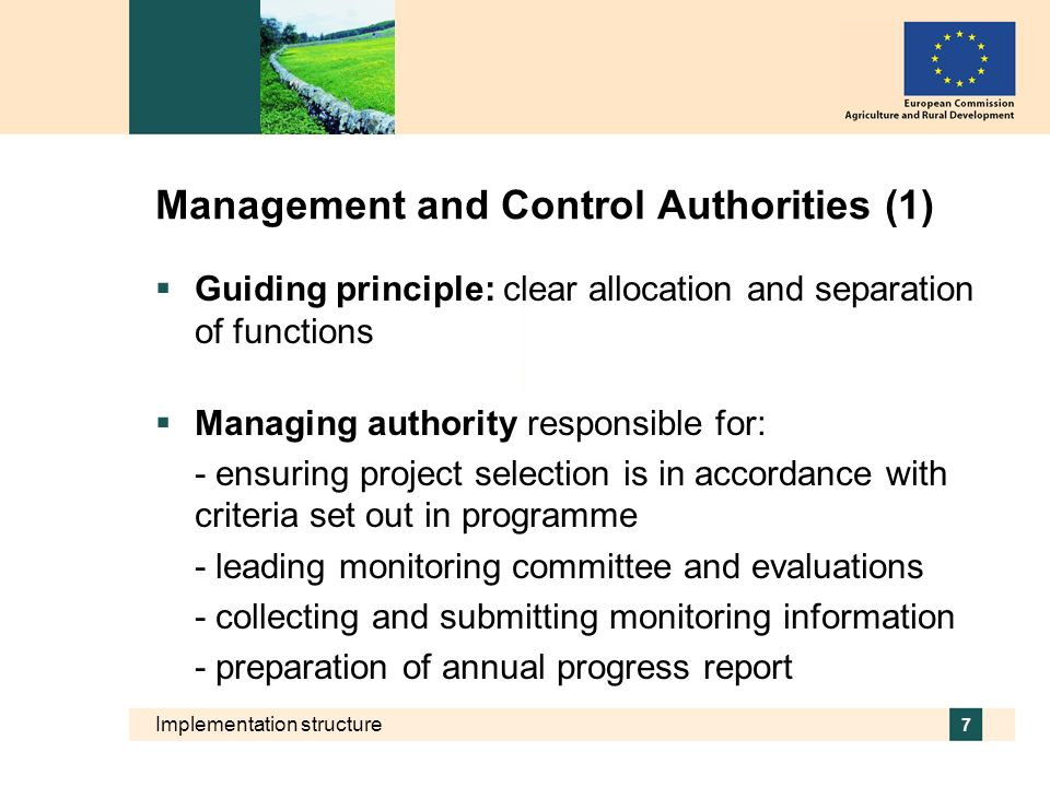 Management and Control Authorities (1)