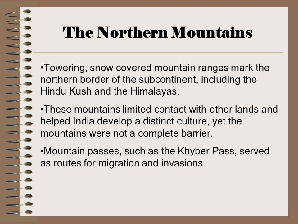 The Northern Mountains