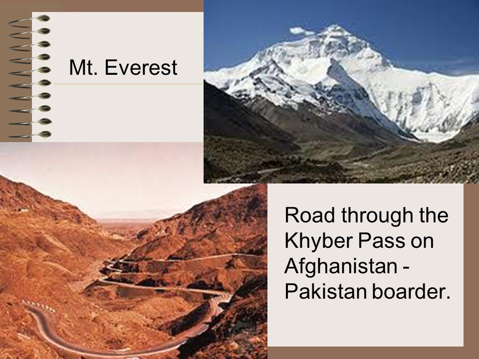 Mt. Everest Road through the Khyber Pass on Afghanistan - Pakistan boarder.