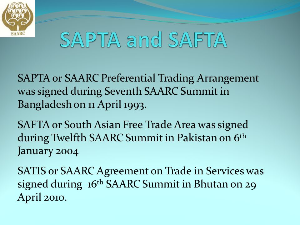 Presentation on Economic Cooperation under SAARC - ppt video