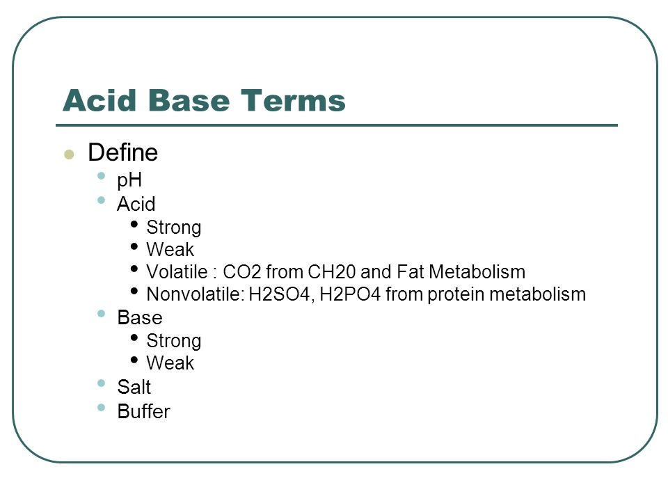 Acids and bases strongweak acidbases pH scale buffers