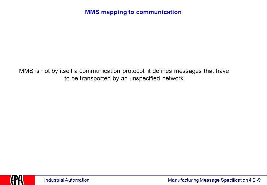 MMS - Manufacturing Message Specifications - ppt video online download