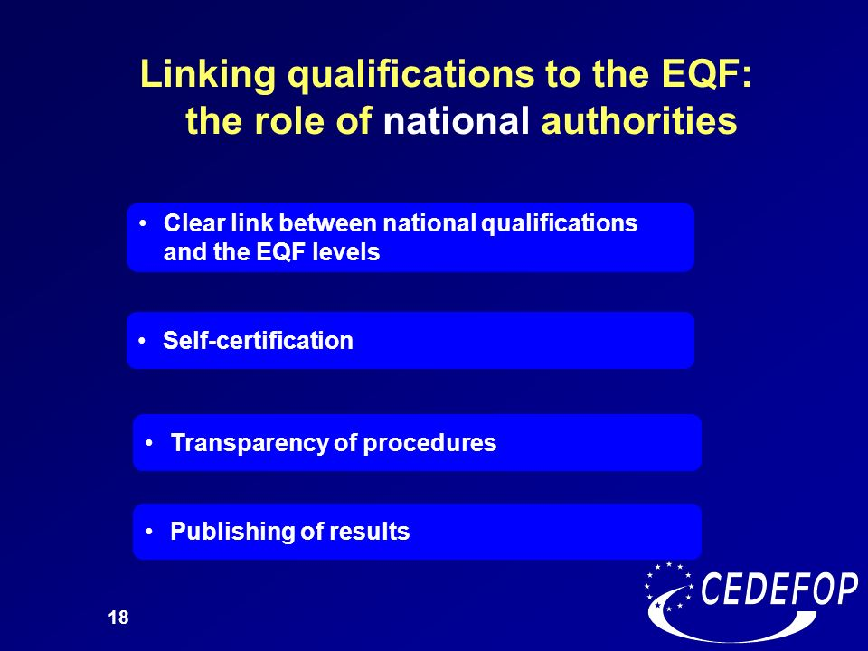 Linking qualifications to the EQF: the role of national authorities