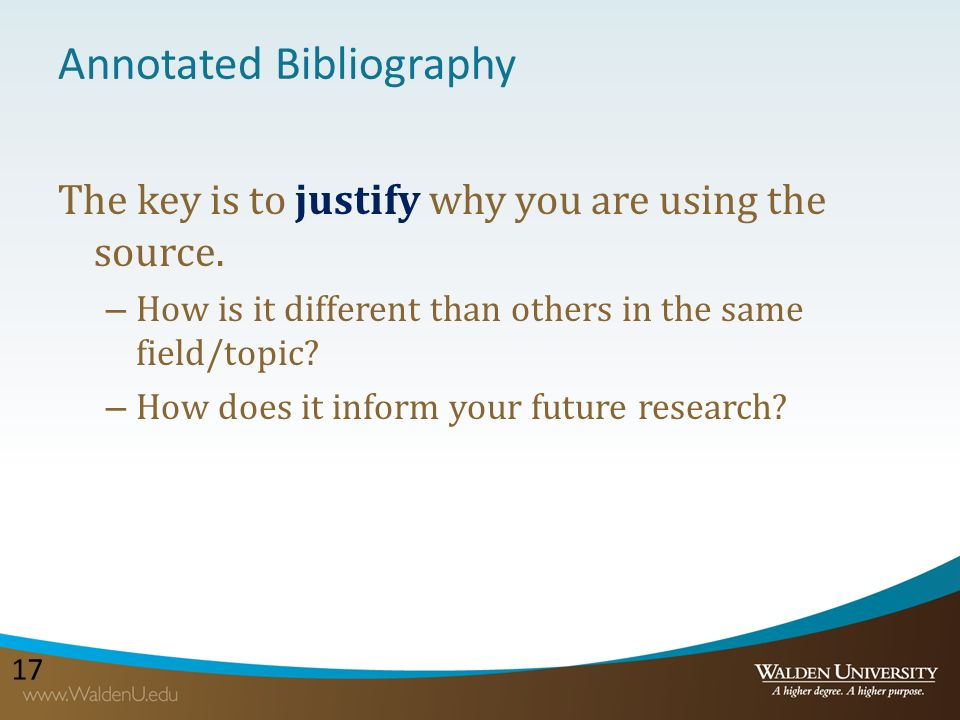annotated bibliography topics for literature