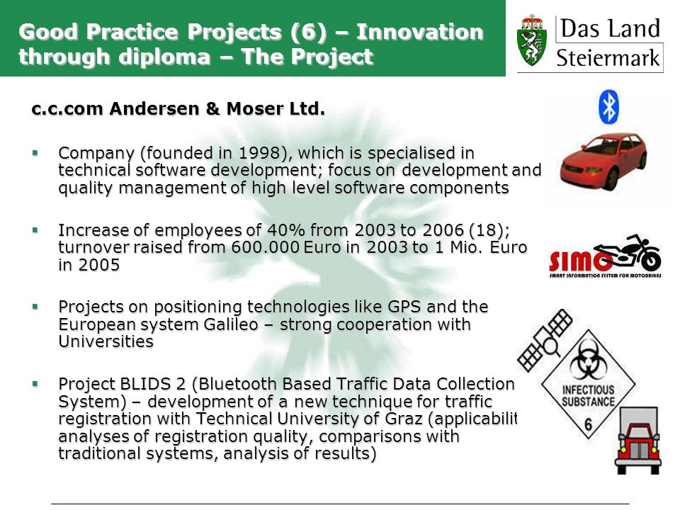 Good Practice Projects (6) – Innovation through diploma – The Project