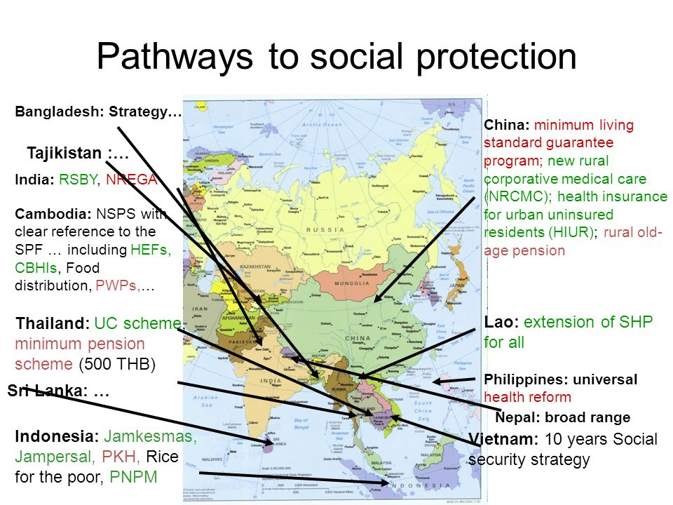 Pathways to social protection