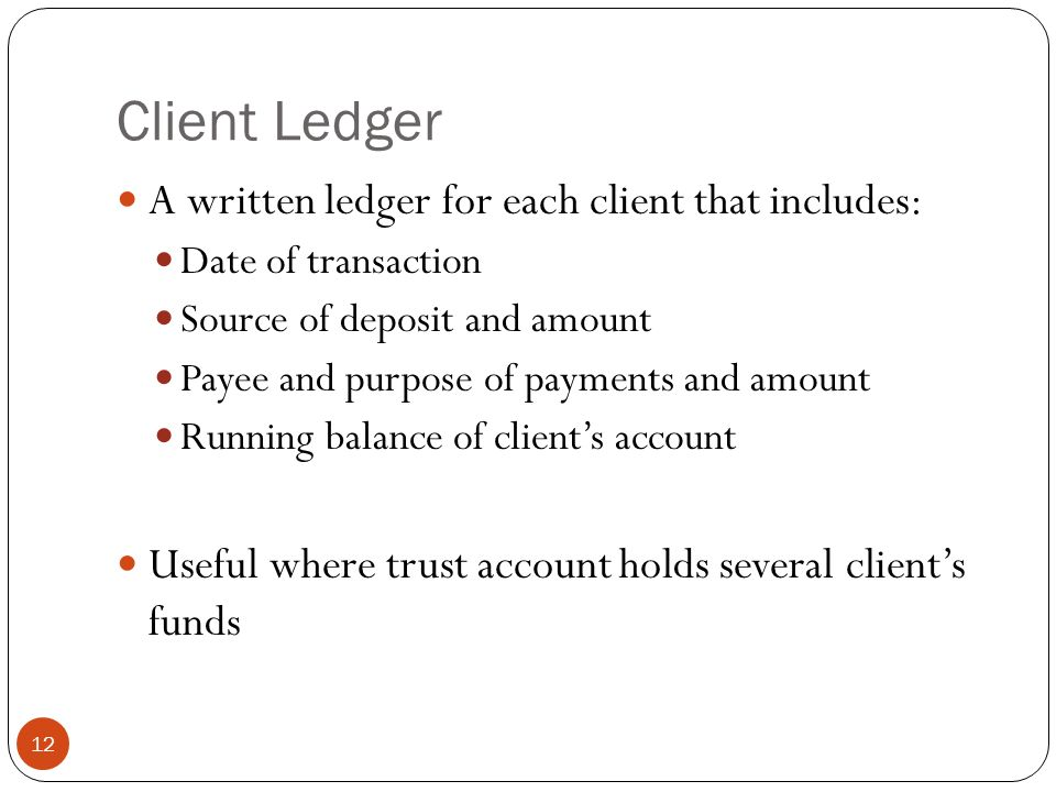 Chapter 9 The Client Funds Trust Account - ppt download
