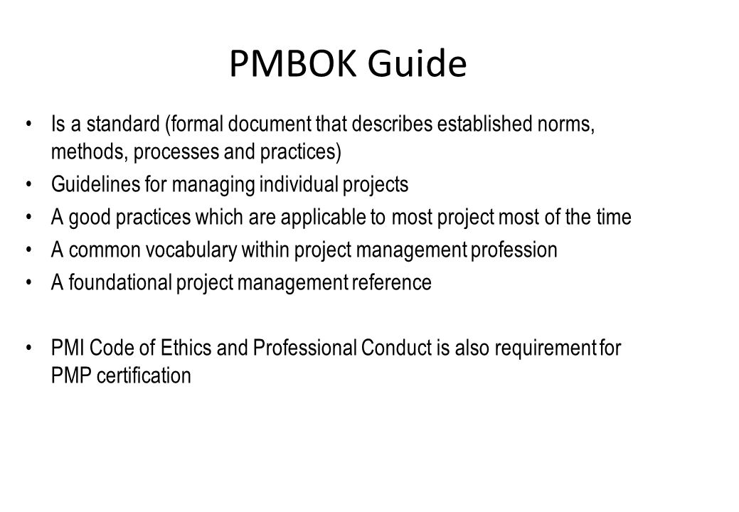 Overview Project Management Body Of Knowledge Ppt Video Online