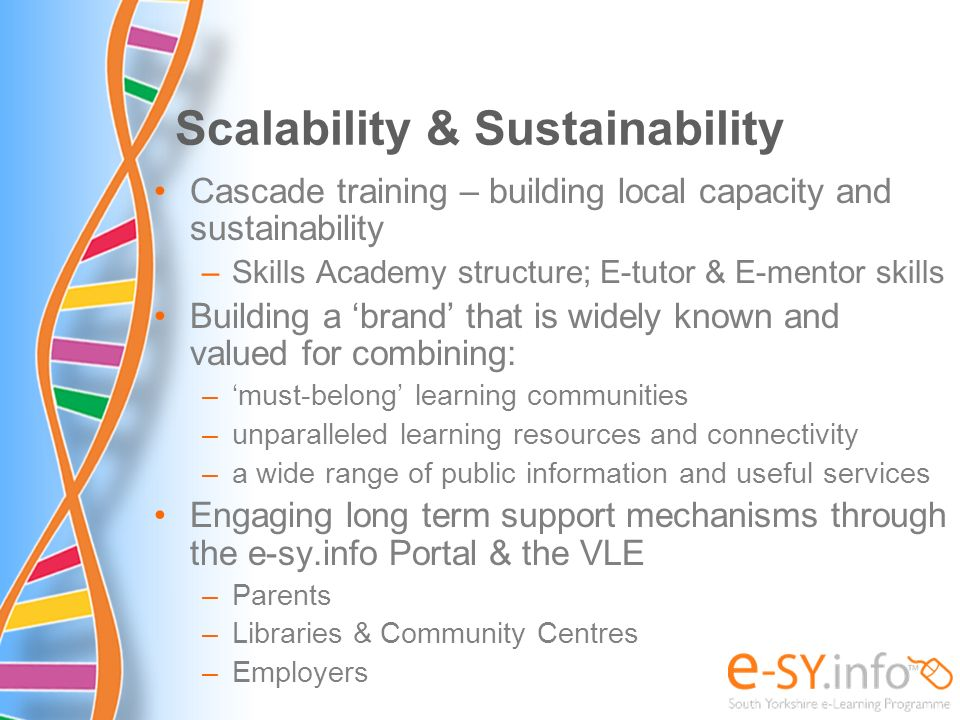 Scalability & Sustainability