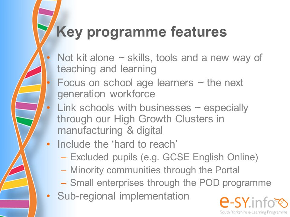 Key programme features