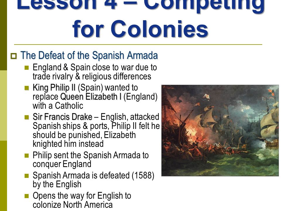 Lesson 4 – Competing for Colonies