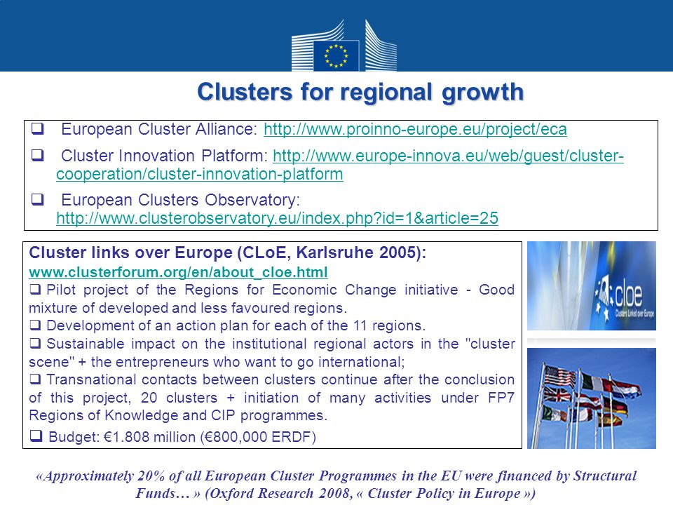 Clusters for regional growth