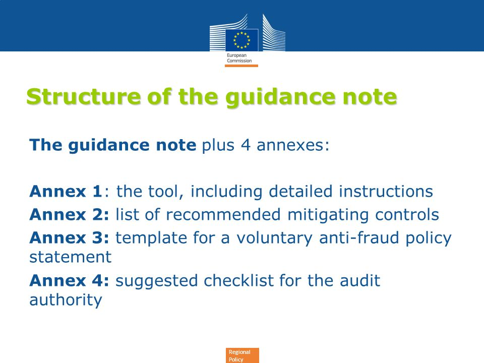 Draft guidance note for member states on fraud risk assessment ppt 4 structure maxwellsz