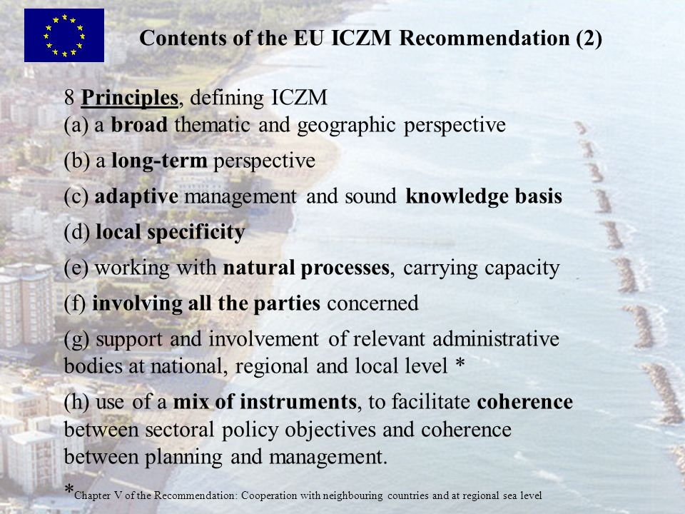 Contents of the EU ICZM Recommendation (2)