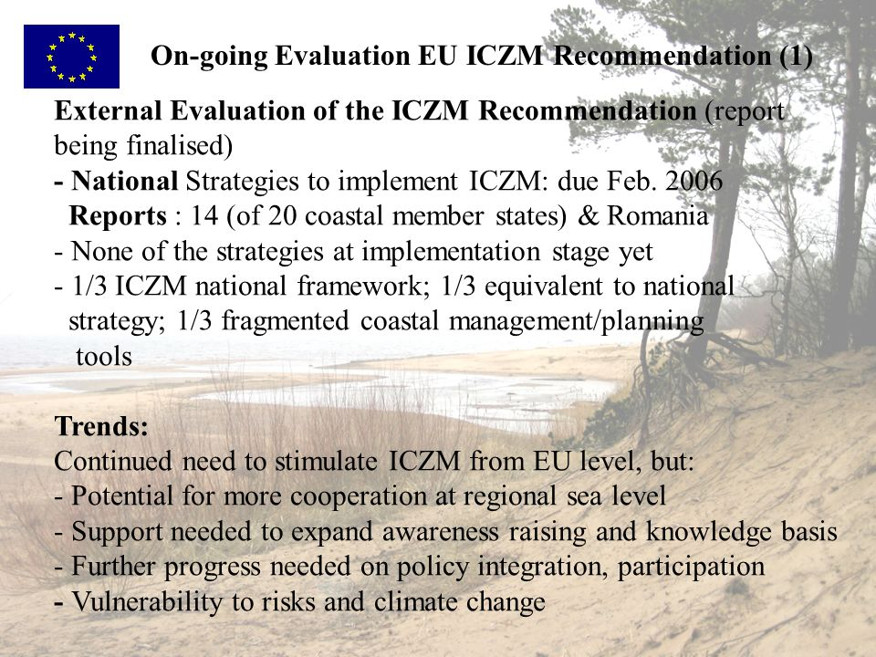 On-going Evaluation EU ICZM Recommendation (1)