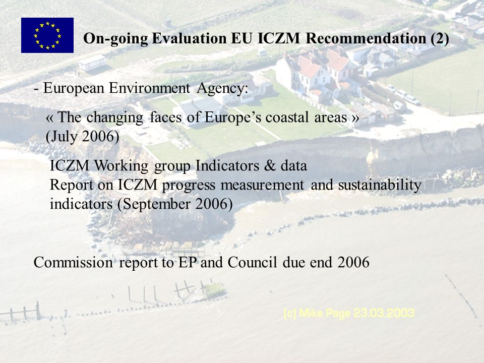 On-going Evaluation EU ICZM Recommendation (2)