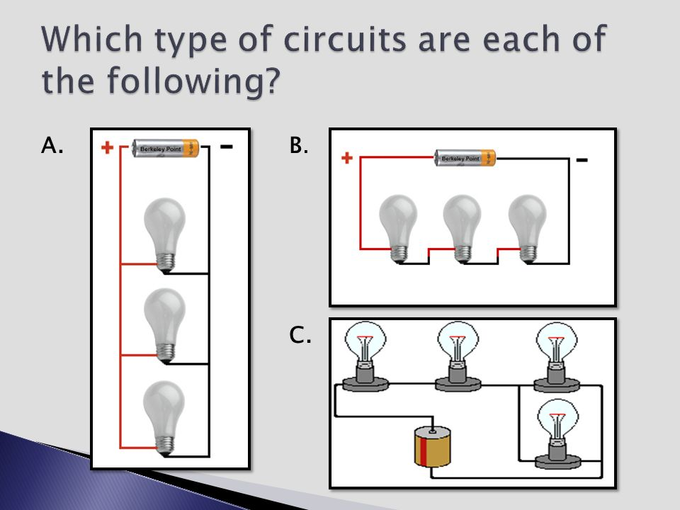 Which type of circuits are each of the following