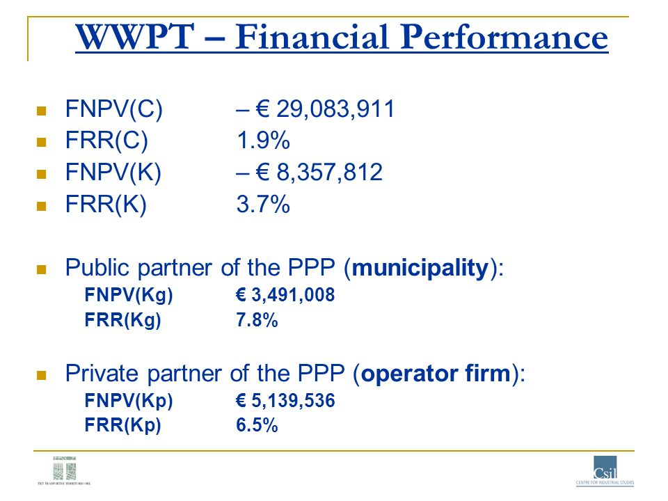 WWPT – Financial Performance