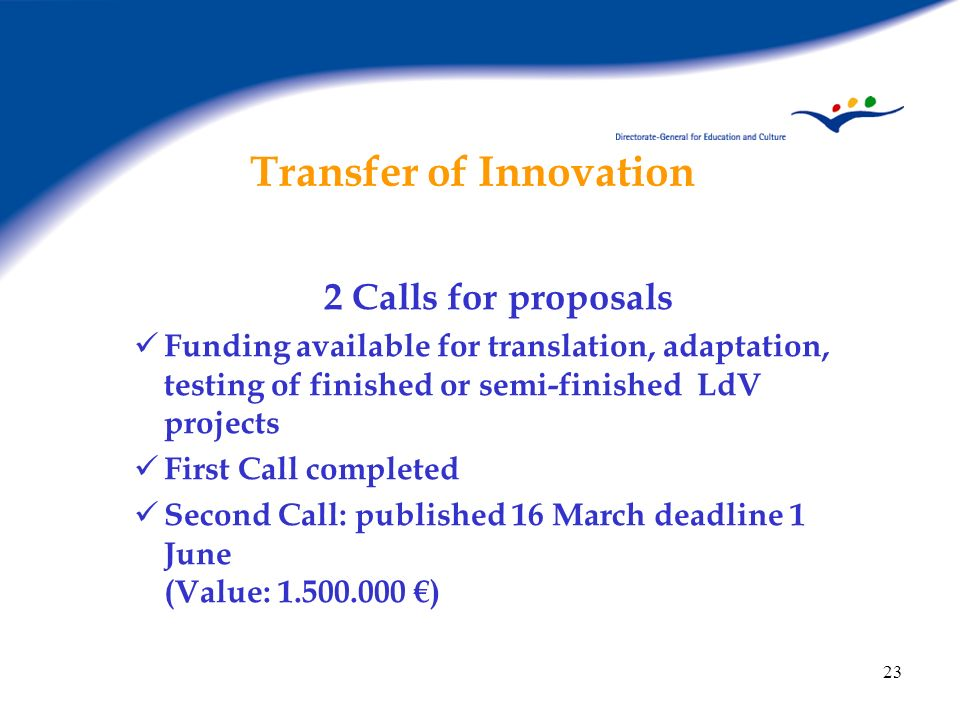 Transfer of Innovation