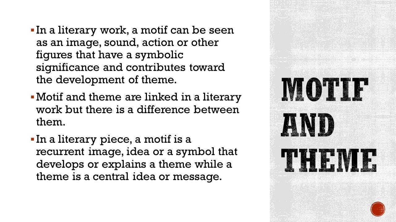 Motif Vs Theme What Is The Difference Between Theme And Motif