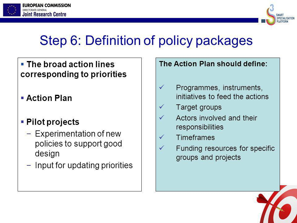 Step 6: Definition of policy packages