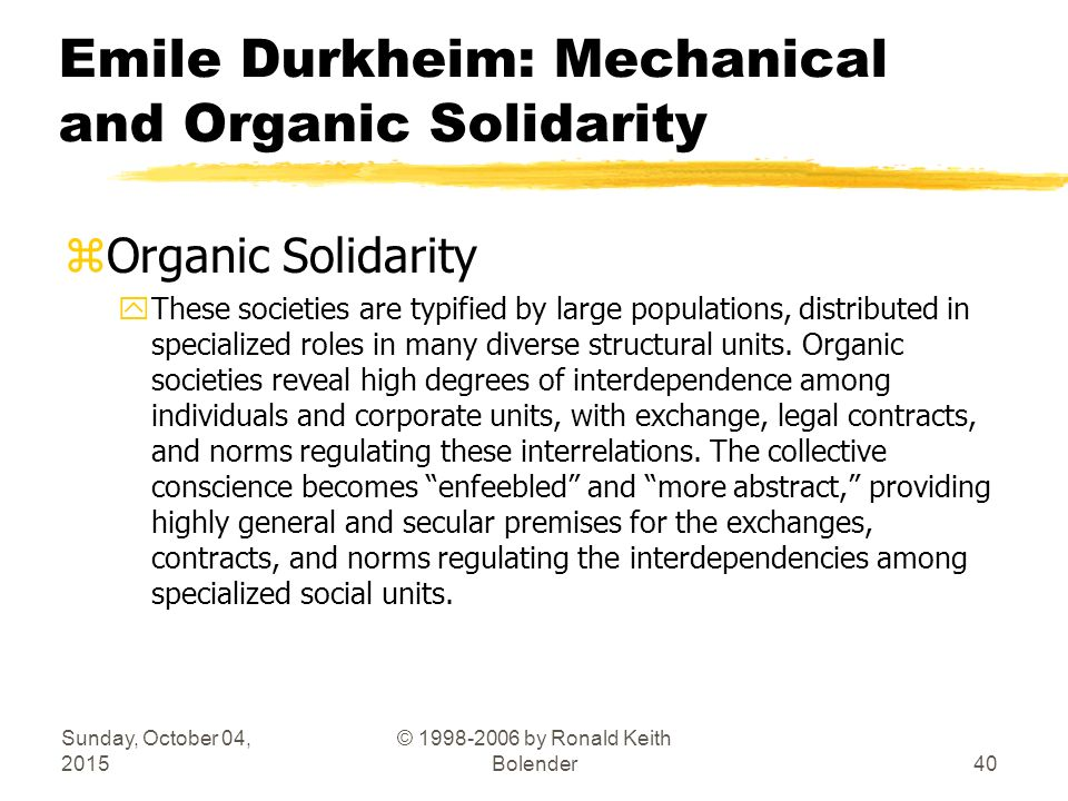 mechanical solidarity definition