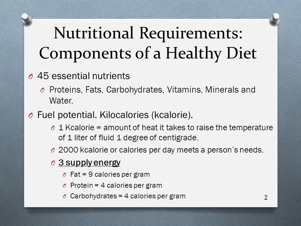 Nutrition Basics Chapter ppt video online download