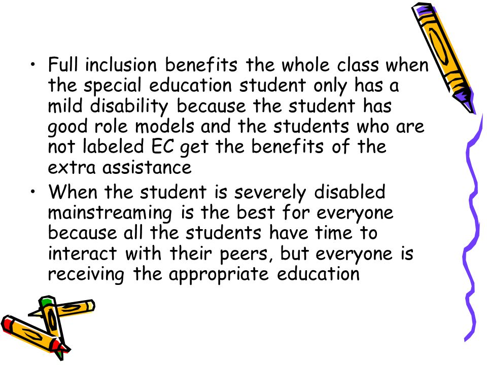mainstreaming in special education