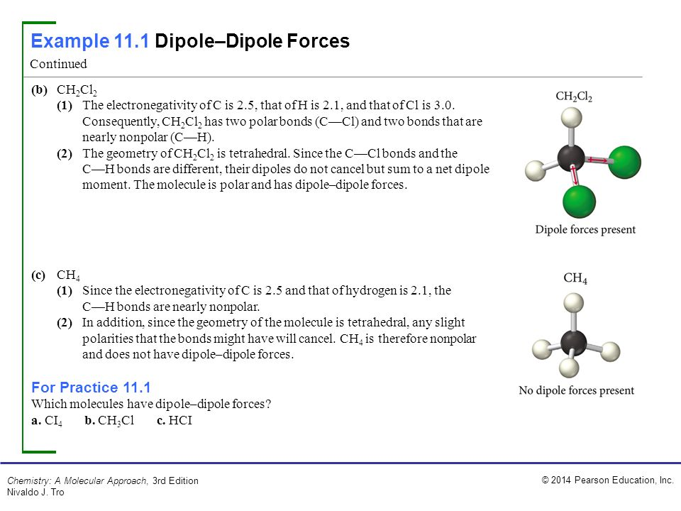 Example 111 Dipoledipole Forces Ppt Download